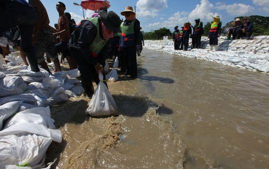 Sandbags flood protection