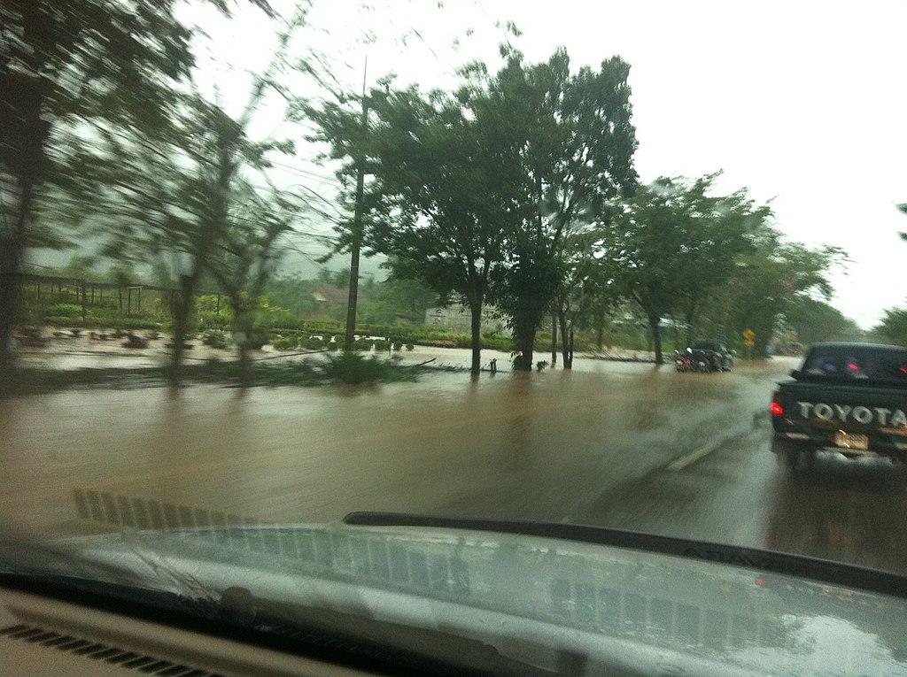Floods in Wang Tako, Lang Suan District, Chumphon