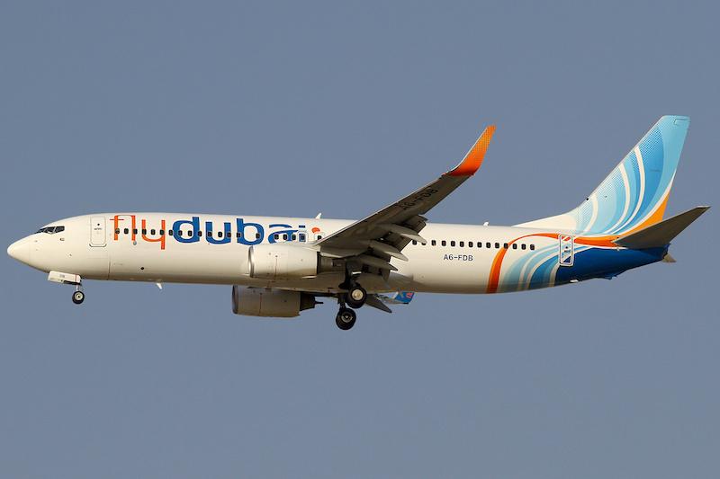 A FlyDubai Boeing B737-800 aircraft