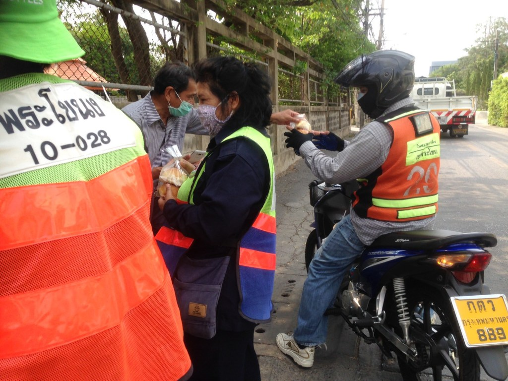Food giveaway during the COVID-19 outbreak in Thailand
