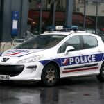 French police Peugeot car in Paris