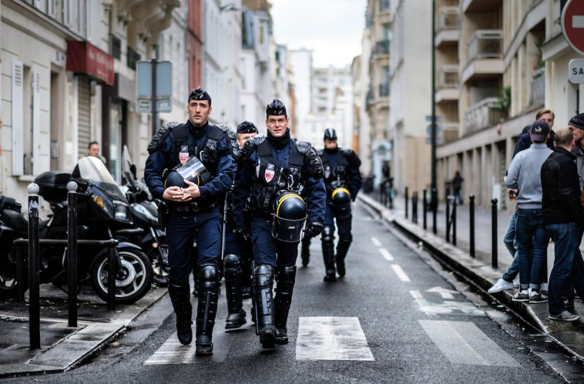 French Anti Riot Police