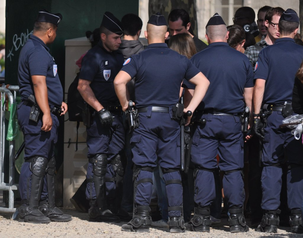 French Police officers