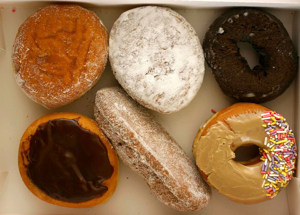 Six fresh Dunkin Donuts in Thailand