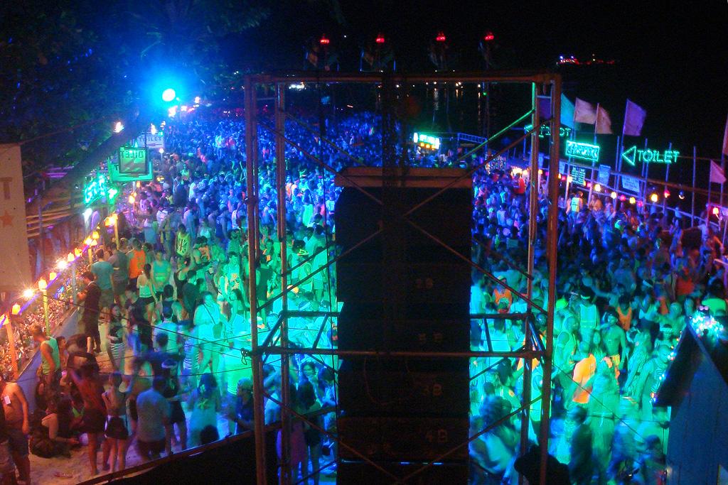 Full Moon Party at Haad Rin Sunrise Beach in Koh Phangan