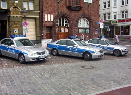 German police cars in front of Davidwache