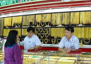 Gold Shop in Thailand