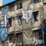 Graffiti on a building in Bangkok