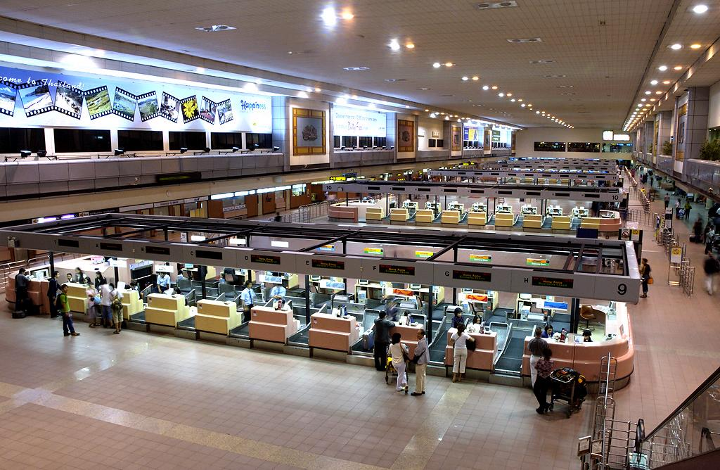 Departure terminal at Don Muang Airport, Bangkok