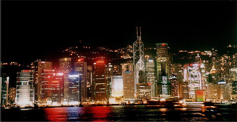 Hong Kong Victoria Harbour night