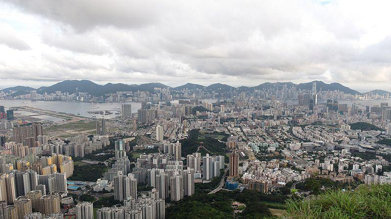 Full view of Kowloon and Hong Kong