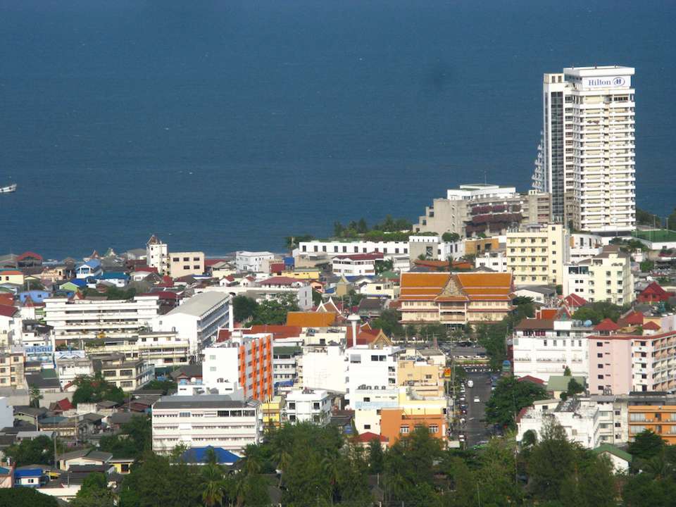 Hua Hin town from viewpoint