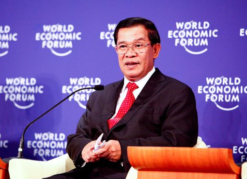 Prime Minister of Cambodia Hun Sen during the World Economic Forum
