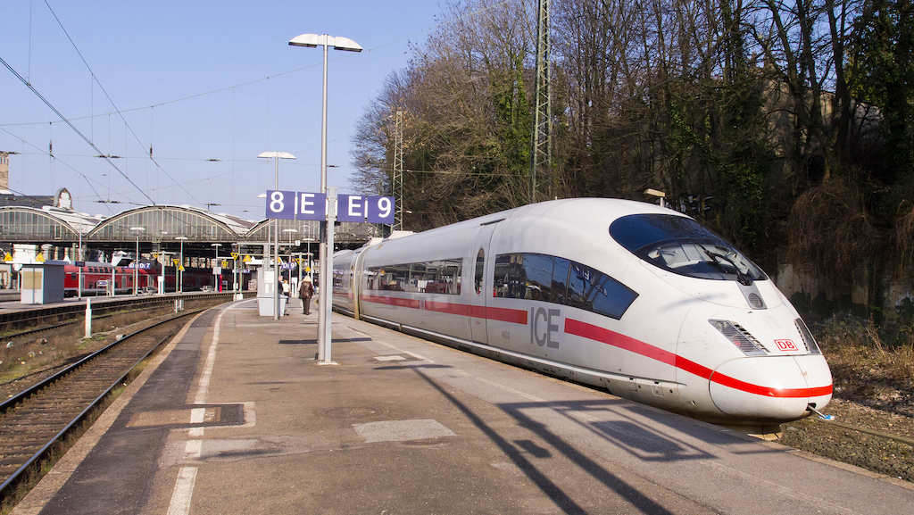 ICE 3 train at Aachen station, Germany