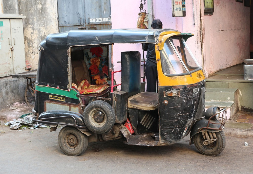 Auto rickshaw in Ahmedabad, India
