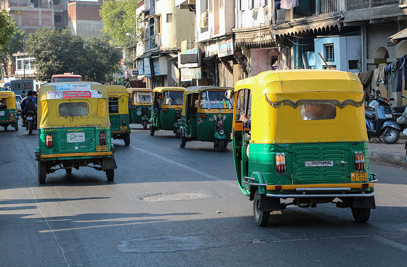 Auto rickshaws in Ahmedabad, India