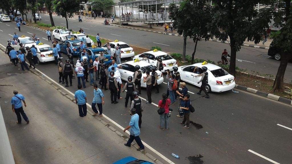 Protest in Jakarta, Indonesia