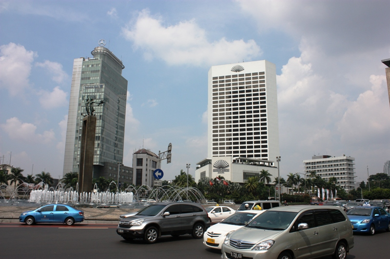 Welcome Statue and Hotel Indonesia Roundabout area of Jakarta