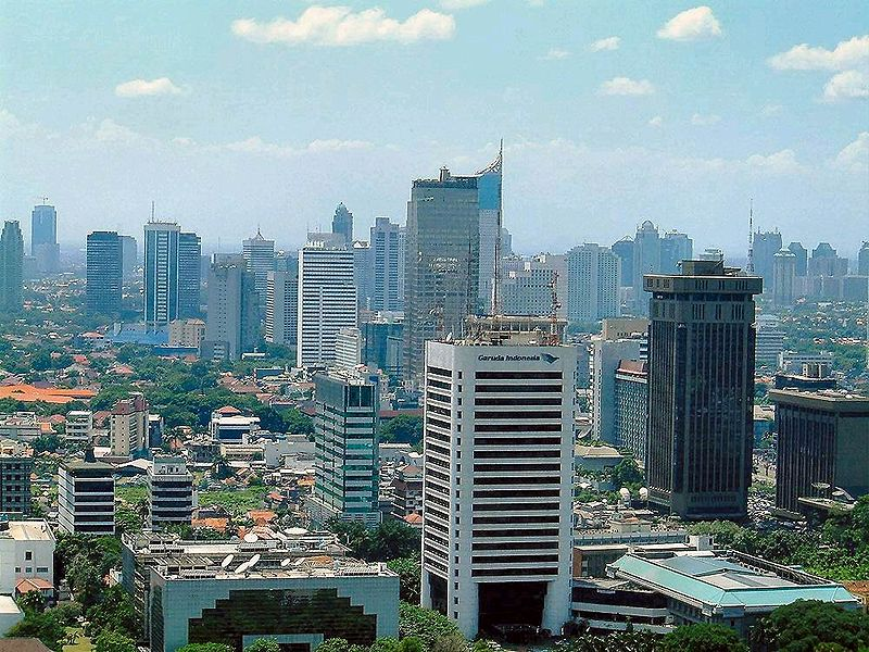Cityscape in Indonesia