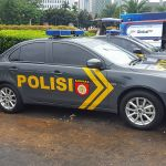 Indonesian police patrol car