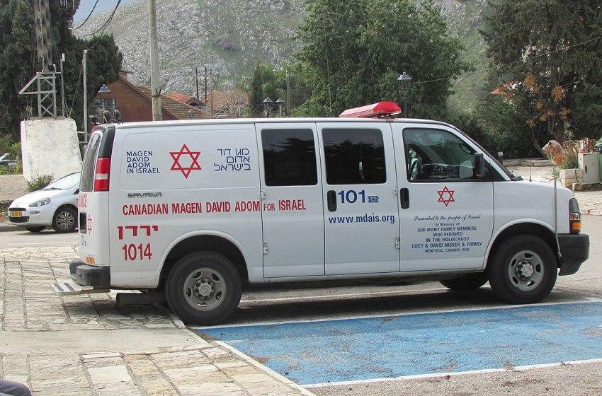Ambulance in Metula, Israel