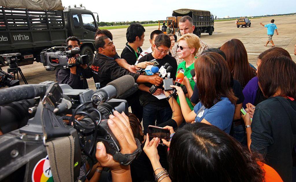 Thai local media interview Kristie A. Kenney