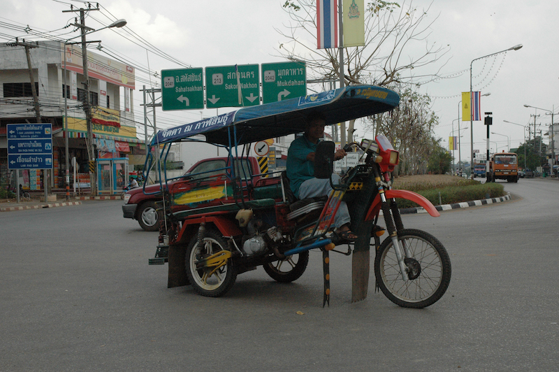 Motorcycle converted into a Tuk Tuk in Kalasin