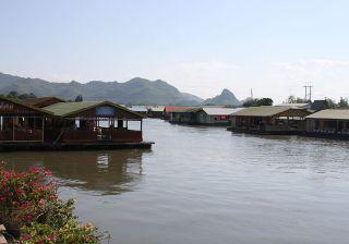 Tenasserim Hills and the Kwai river in Kanchanaburi