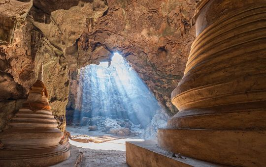 Buddha images at Khao Luang cave in Phetchaburi