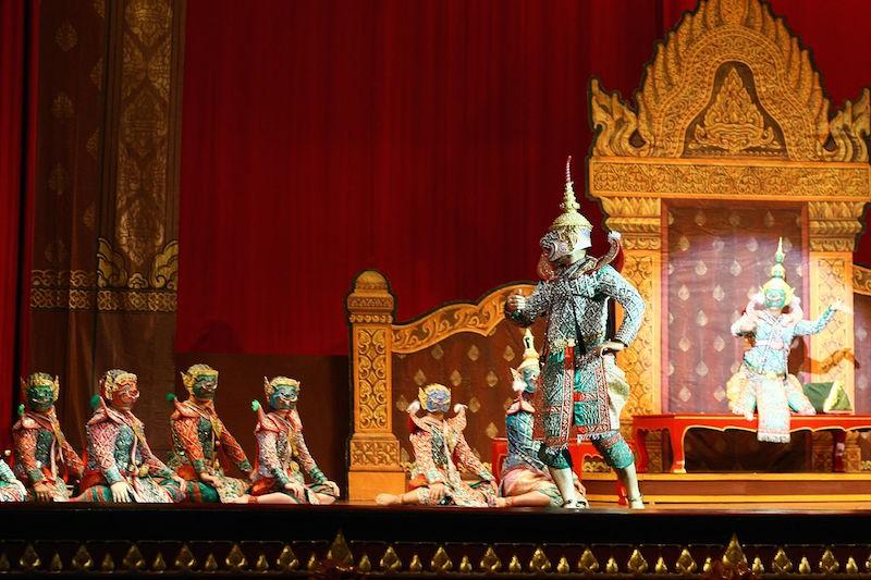 Thai khon dancers perform at Royal Albert Hall