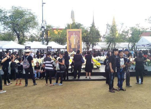 Mourning King Bhumibol Adulyadej in Sanam Luang