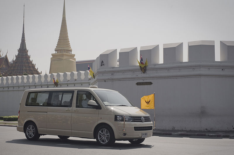His Majesty the King at the Grand Palace, Na Phra Lan Road on Sunday, December 5, 2553.