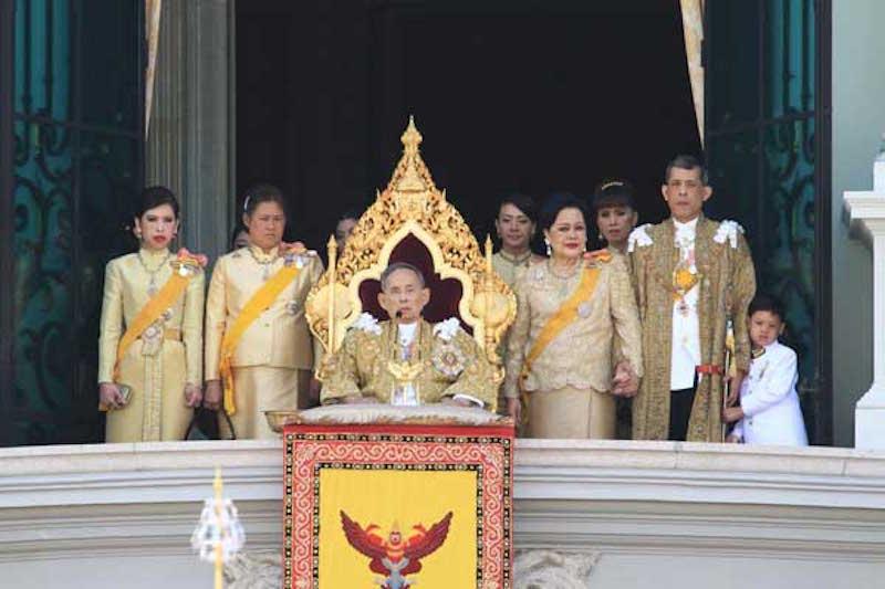 Thailand's King Bhumibol Adulyadej and the Royal family