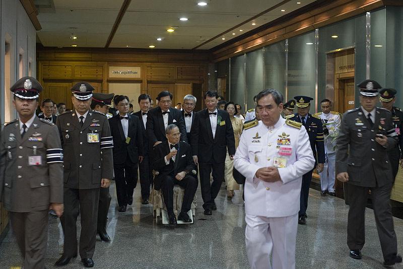 His Majesty King Bhumibol Adulyadej at the Auditorium of the Siriraj Hospital, on Wednesday, 29 September 2553