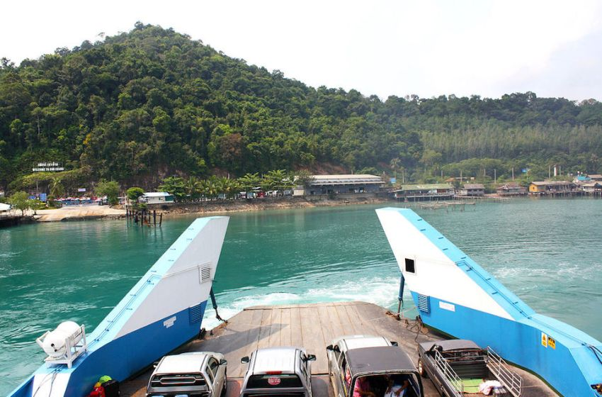 Ferry on Koh Chang island