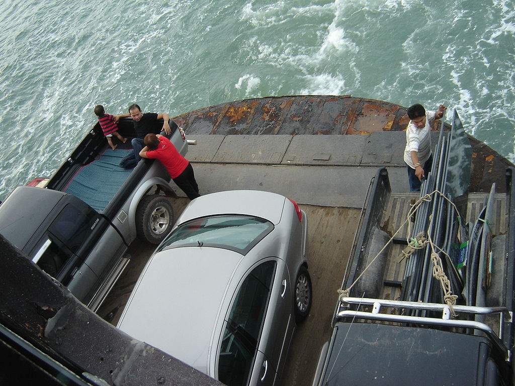 Ferry to Koh Chang transporting cars