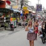 Tourists at Haad Rin street in Koh Phangan