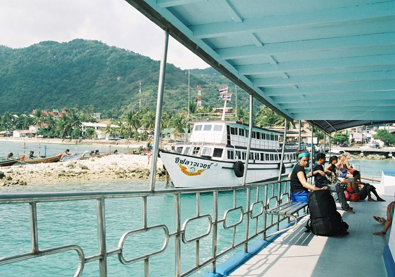 Ferry at Haad Rin pier in Koh Phangan