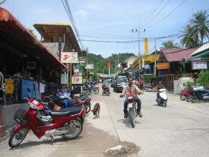 Koh Tao main street