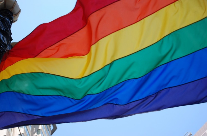 LGBT pride flag also known as rainbow flag