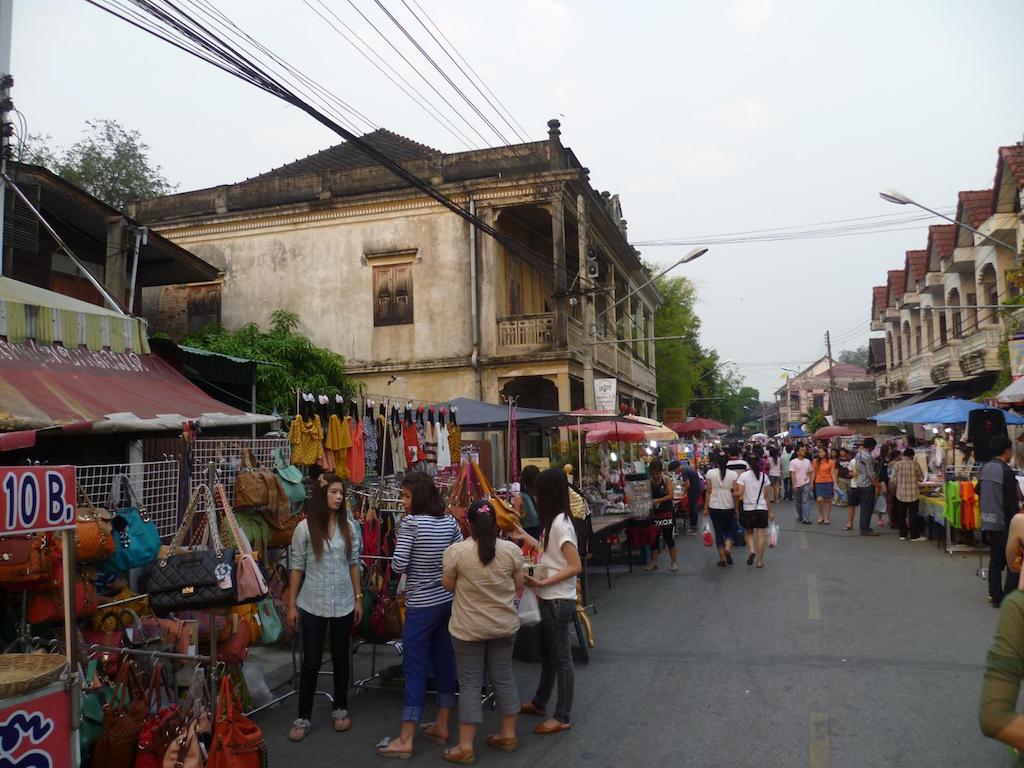Lampang night market Thailand