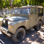 Land Rover outside Klong Prem Central Prison in Bangkok