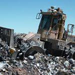 Landfill garbage compactor