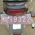 Royal Thai Police motorcycle license plate