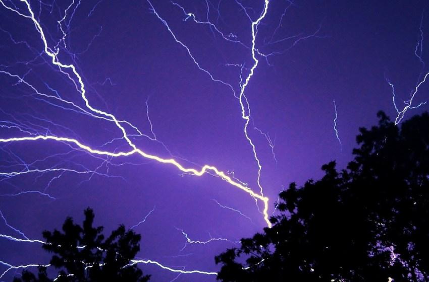 Lightning strike burns down school storage building causing costly damage