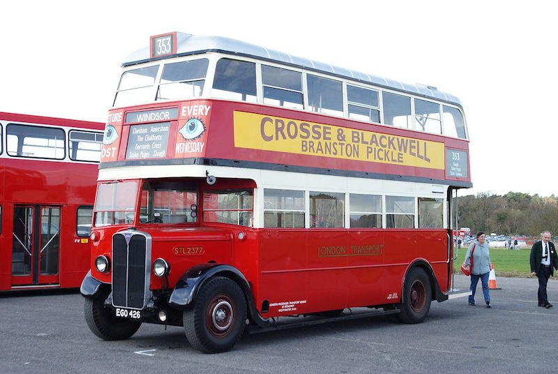 Old 1933 London bus
