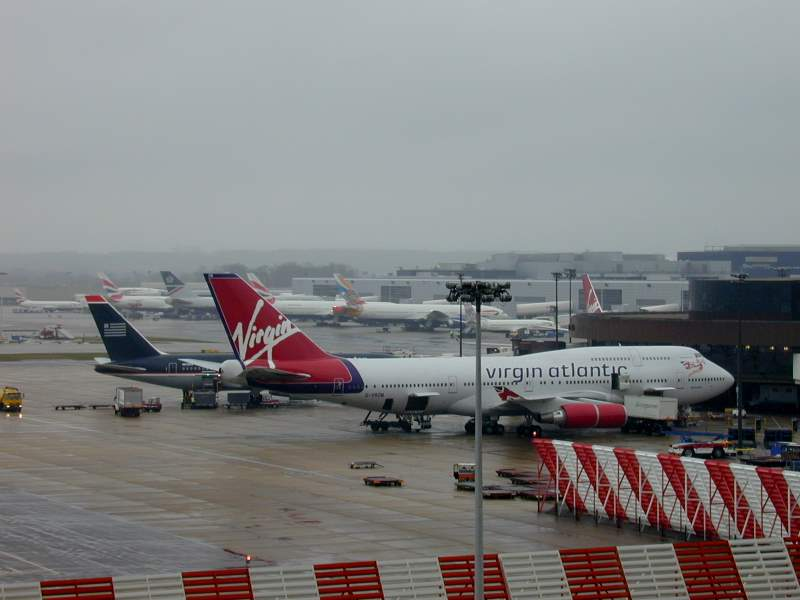 Virgin Atlantic Boeing 747 at London Gatwick Airport, United Kingdom