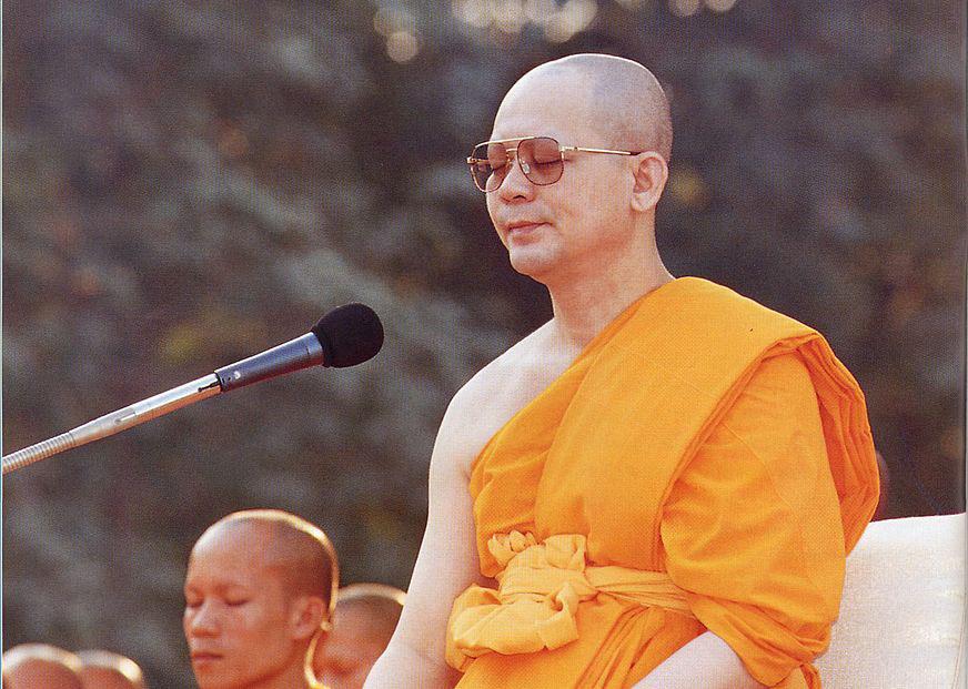 Luang Por Dhammajayo at Wat Phra Dhammakaya