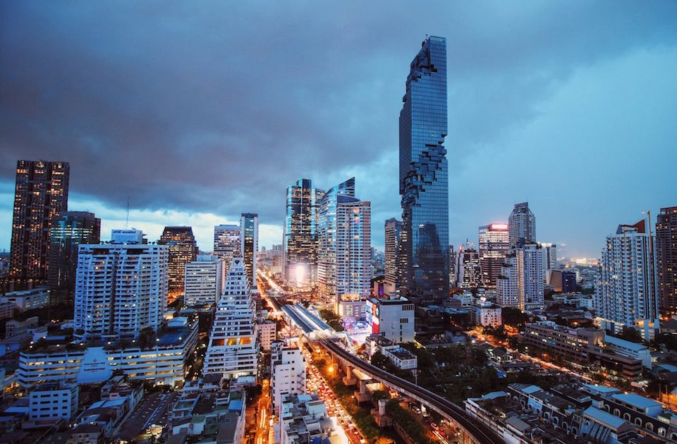 The MahaNakhon tower in Bangkok is the tallest building in Thailand