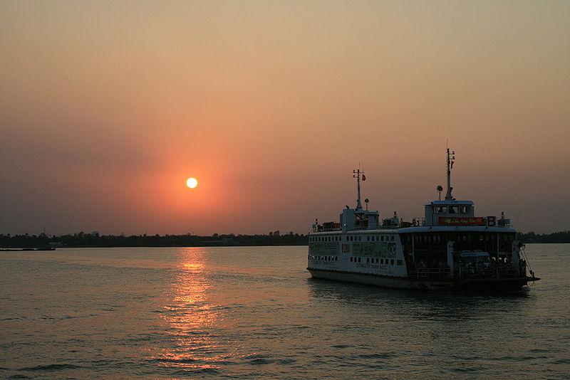 Sunset on the Mekong River